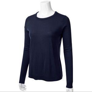 Sweaters - Navy Crew Neck Sweater